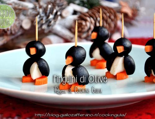 Pinguini antipasto con olive e mozzarelline