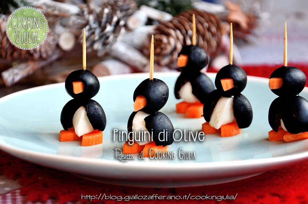 Pinguini antipasto con olive e mozzarelline - Pinguini di natale immagini ...