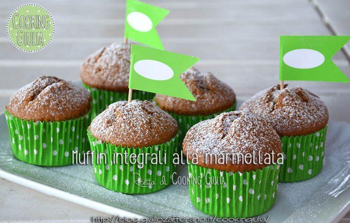 Muffin integrali alla marmellata