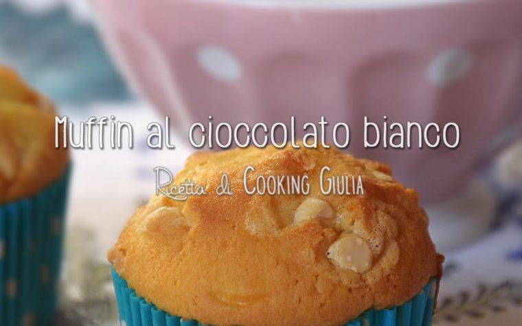 Muffin con cioccolato bianco