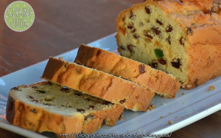 Plumcake originale con canditi e uvetta
