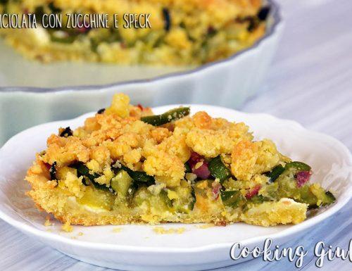 Torta Sbriciolata con Zucchine, Robiola e Speck