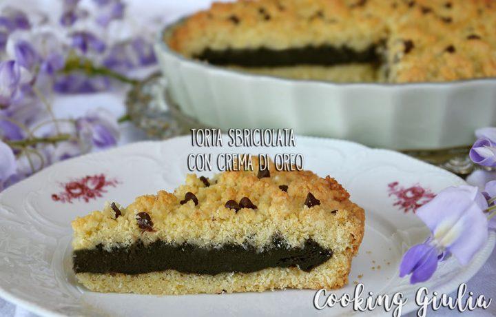 Torta Sbriciolata Oreo, ricetta con Gocce di Cioccolato