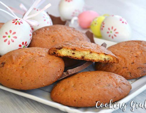 Cookies con Cioccolato al latte e Philadelphia (come riciclare le Uova di Pasqua)