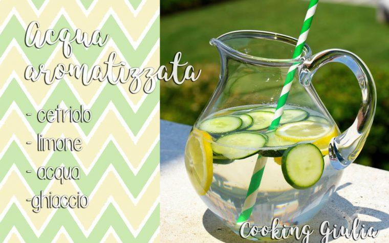 Acqua aromatizzata al cetriolo e limone