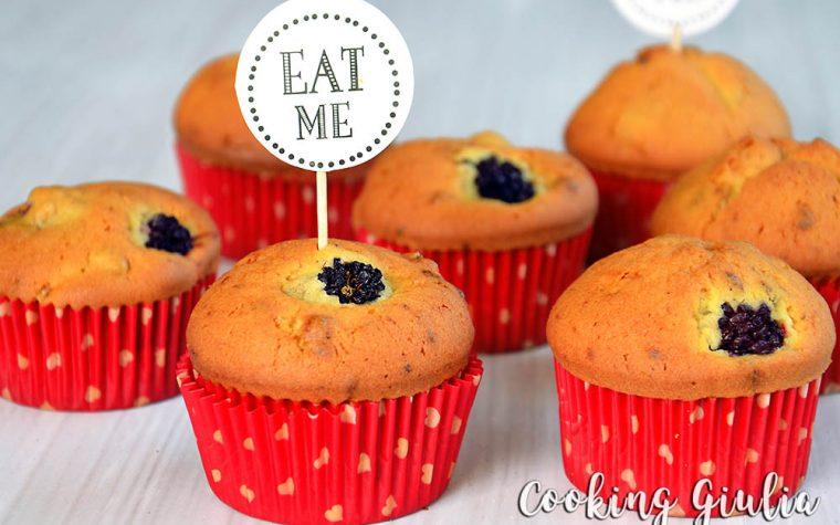 Muffins alle more, ricetta semplice ed estiva