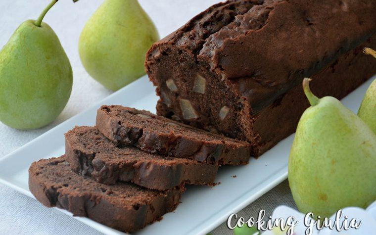 Plumcake cacao e pere con mascarpone