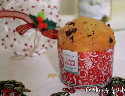 Muffin pere e gocce di cioccolato