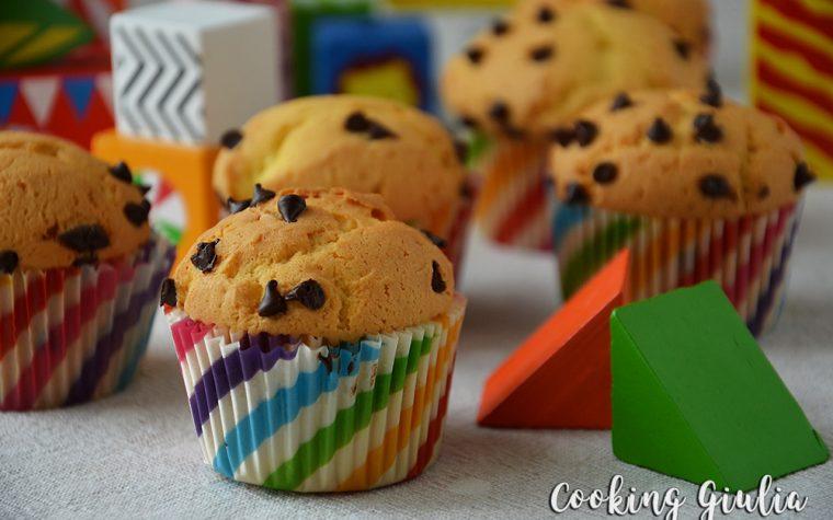 Muffins con gocce di cioccolato fondente