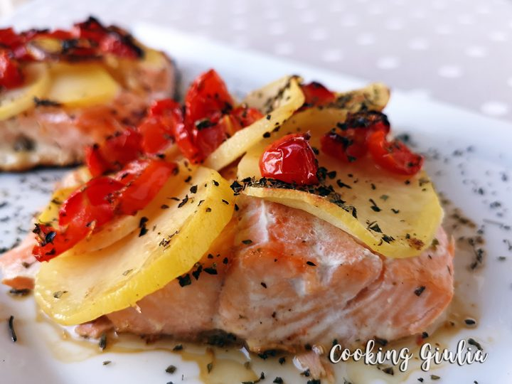 filetto salmone al forno