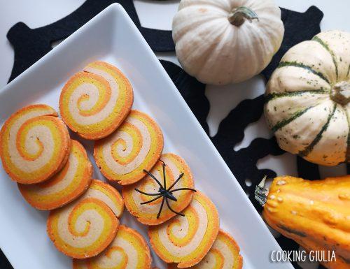 Girelle di Halloween: 3 strati di friabile pasta frolla