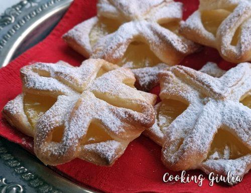 Sfoglie all'ananas, ricetta veloce con la pasta sfoglia