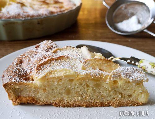 Crostata morbida senza burro alle mele