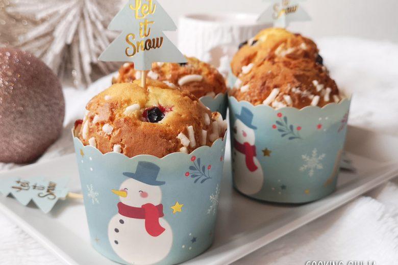 Muffin alla panna con ribes rossi