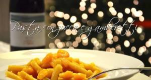 Pasta con zucca e gamberetti