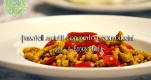 Passatelli asciutti con pesto e pomodorini