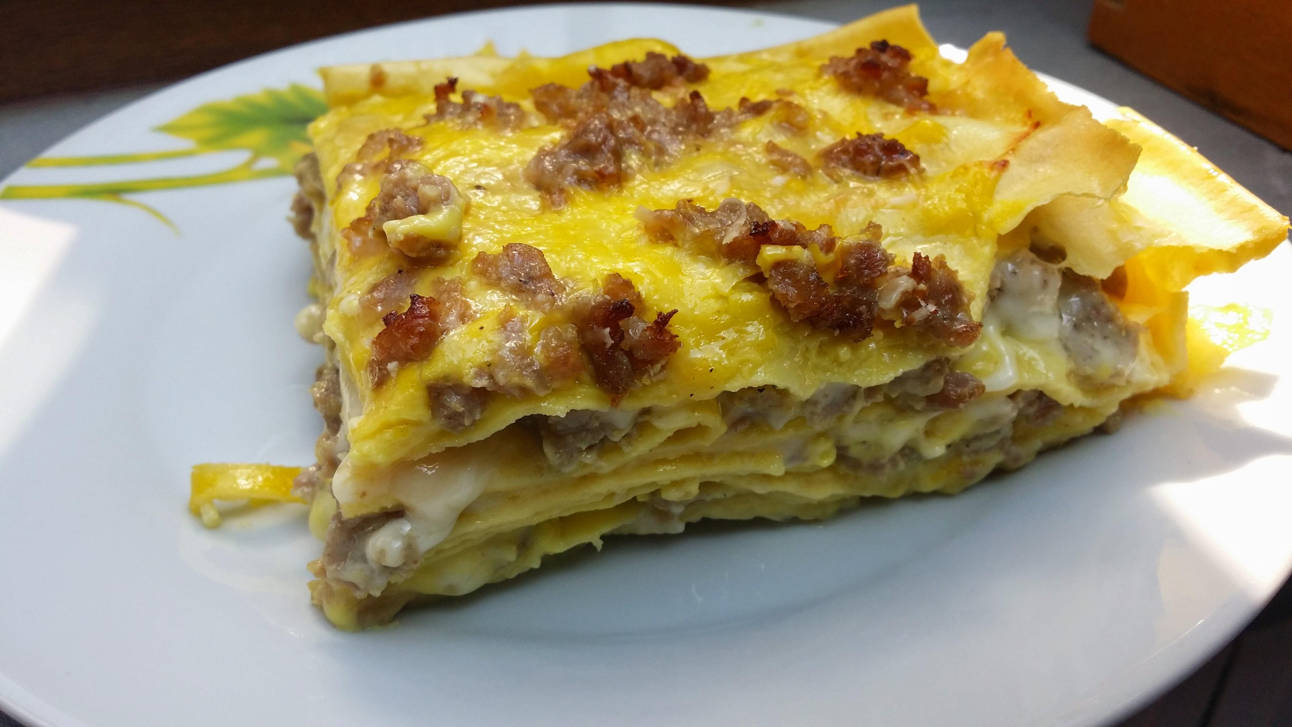 lasagne salsiccia con besciamella allo zafferano