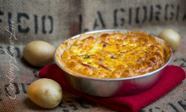 Tortino salato patate e speck ( ricetta facile )