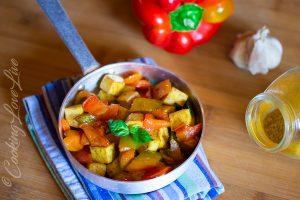 """Tofu con peperoni al Curry """"Vegan"""""""