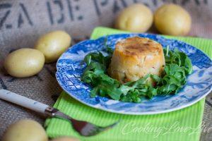 Tortino di patate con salsiccia e fiordilatte