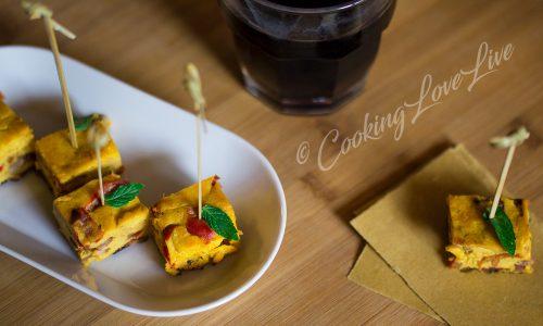Frittata di ricotta peperoni e salsiccia piccante
