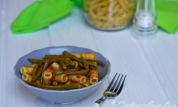 Pasta fagiolini e pomodoro ( vegan ok )