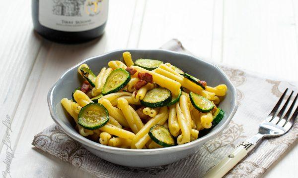 Casarecce zucchine e pancetta