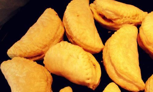 Empanadillas con funghi e gamberetti