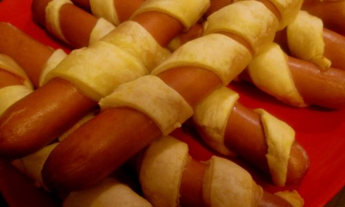 Wurstel in crosta