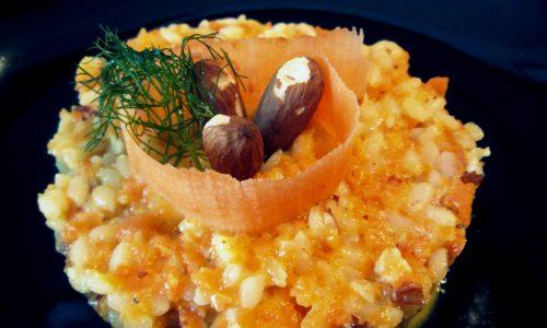 Risotto alle carote e mandorle