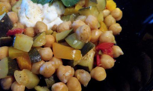 Dadolata di verdure con ceci