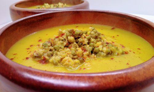 Zuppa gialla con fagioli azuki