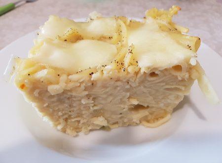 Pasta e patate con provola al forno