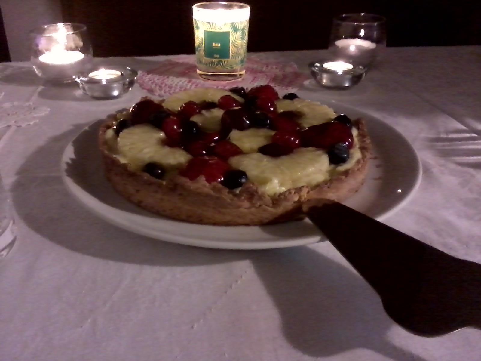 Crostata di crema e frutta