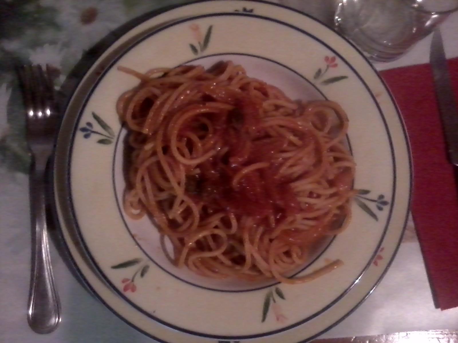 Bigoli in salsa piccante