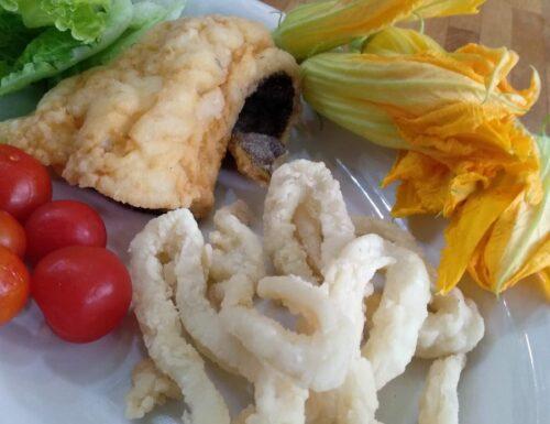 Frittura di calamari e baccalà