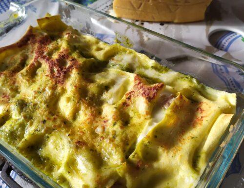 Lasagne pesto e tonno