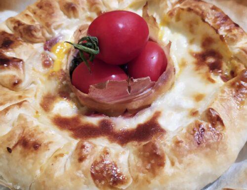 Ciambella salata al cotto e verdure