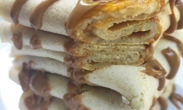 Crepes alla marmellata di albicocche e burro d'arachidi