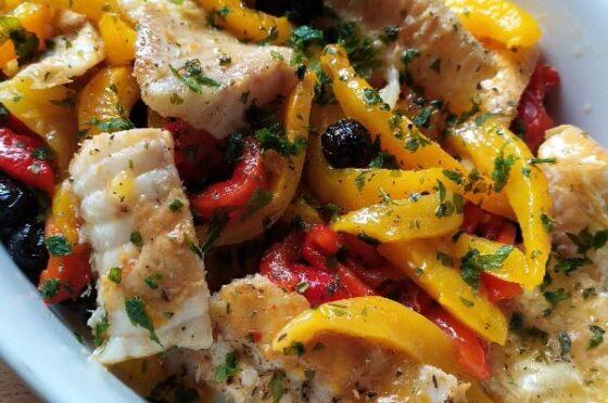 Baccalà in insalata con i peperoni