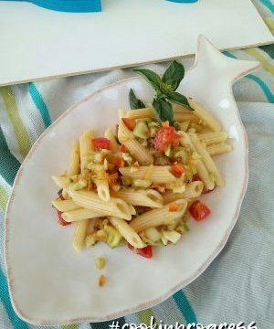 Pennette alla crudaiola con verdure  e profumi dell'Estate, versione#cookinprogress
