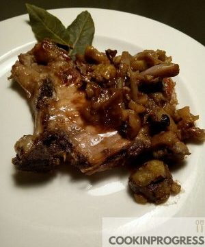Bistecchina di maiale con scalogno e castagne