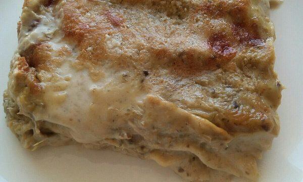 Lasagne al forno con carciofi e besciamella