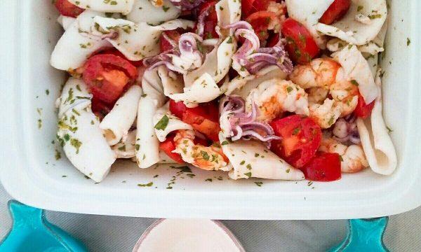 "L'insalata di mare calamari e gamberi, semplice e ""nature""!"