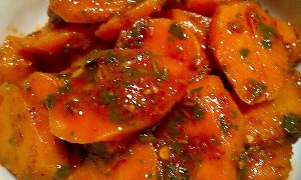 Carote in umido con cumino e paprika,  Ricetta Algerina