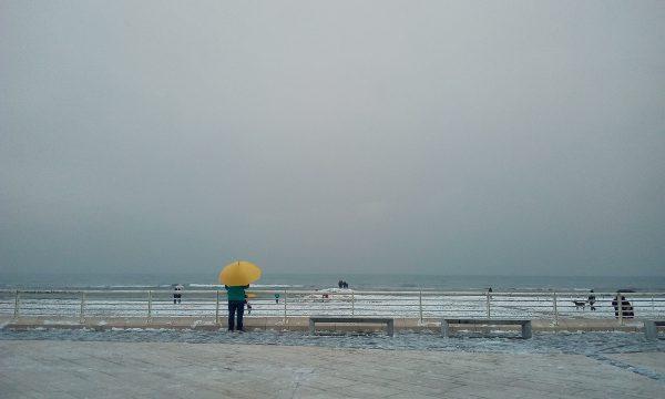 La neve al mare!