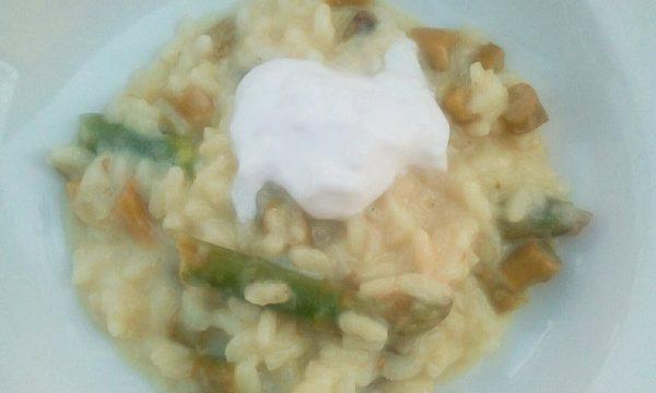 Riso Agli Asparagi mantecato con Burrata