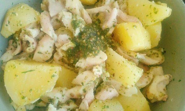 Nuova Insalata: di Polpo al pesto di sedano con patate