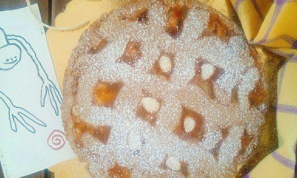 Crostata con farina integrale all'albicocca e mandorle