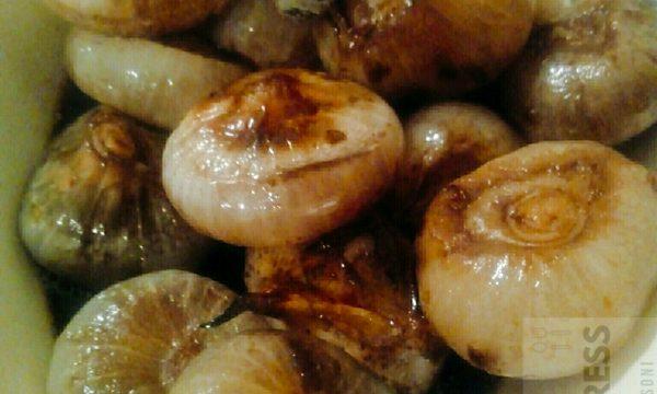 Cipolline borettane in agrodolce al forno